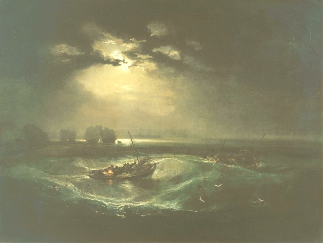 Fishermen at Sea exhibited 1796 Joseph Mallord William Turner 1775-1851 Purchased 1972 http://www.tate.org.uk/art/work/T01585