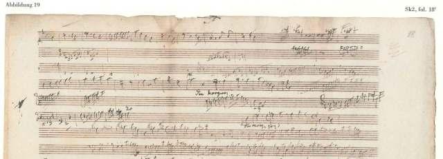 schets uit schetsboek Beethoven