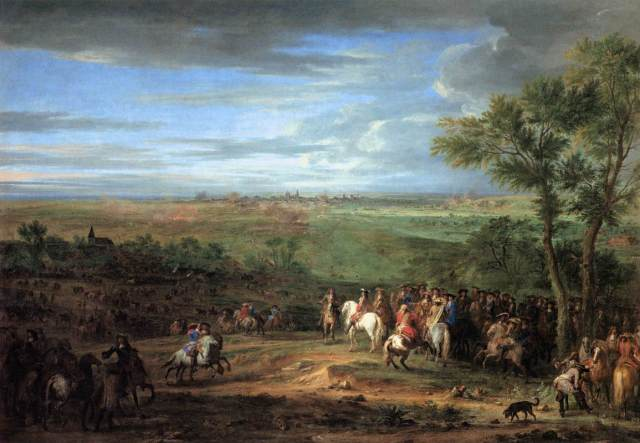 Adam_Frans_van_der_Meulen_-_Louis_XIV_Arriving_in_the_Camp_in_front_of_Maastricht_-_WGA15110